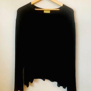 LINDA LUNDSTROM black long sleeve blouse size 3X